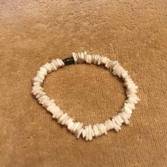 Unbranded Jewelry White Squared Hawaiian Puka Shell Ankle Bracelet